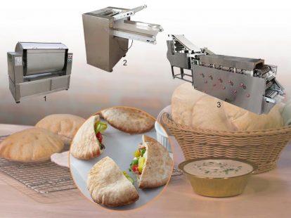 Arabic pita bread production line