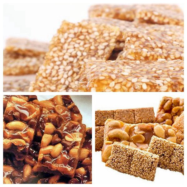 all kinds of nut brittles