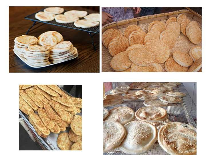 all kinds of pita bread