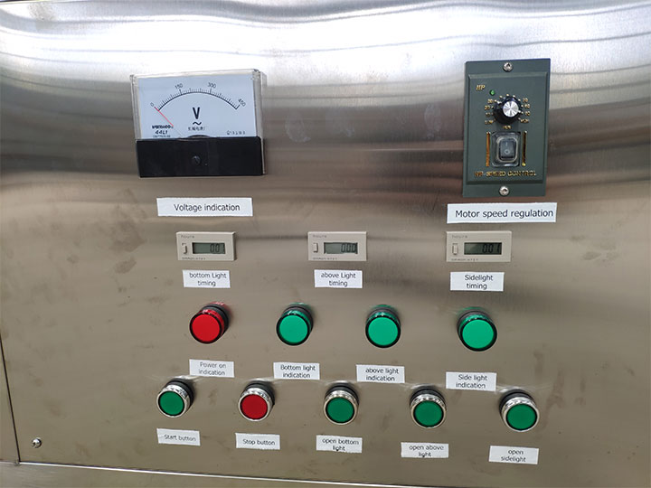 electric controller panel of the sterilization machine
