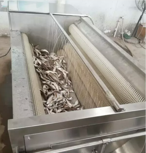fish scaling by machine