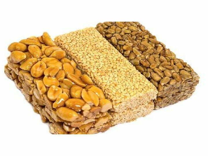 peanut sesame brittle bars