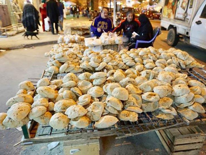 pita bread in Arab street