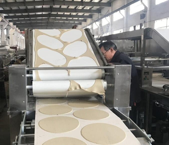 pita bread processing with the pita bread maker
