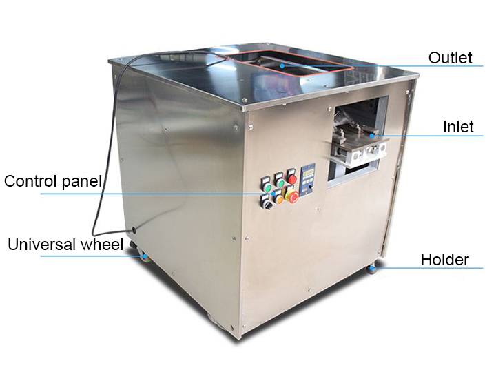 structure of the salmon slicer machine
