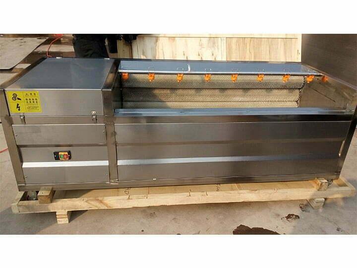 sweet potato peeling machine for shipping to Uganda