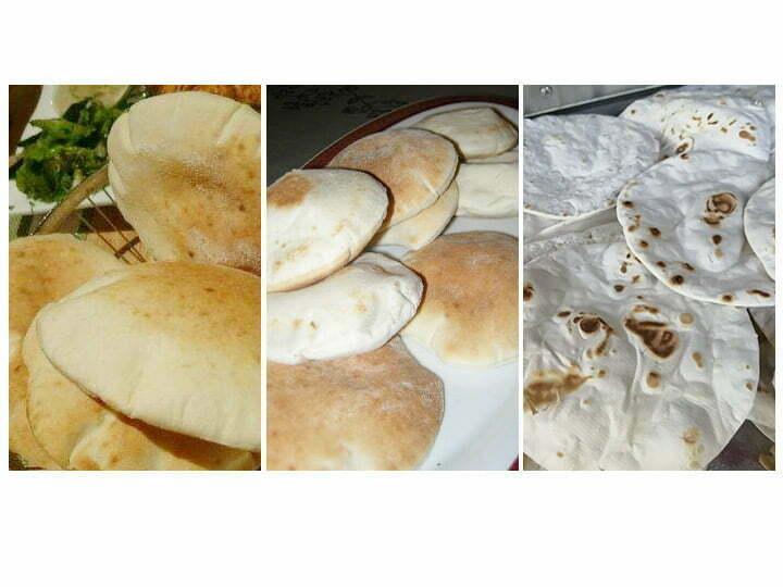 various Arabic pita bread