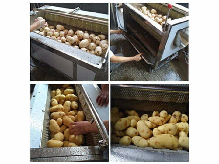 working details of sweet potato peeler