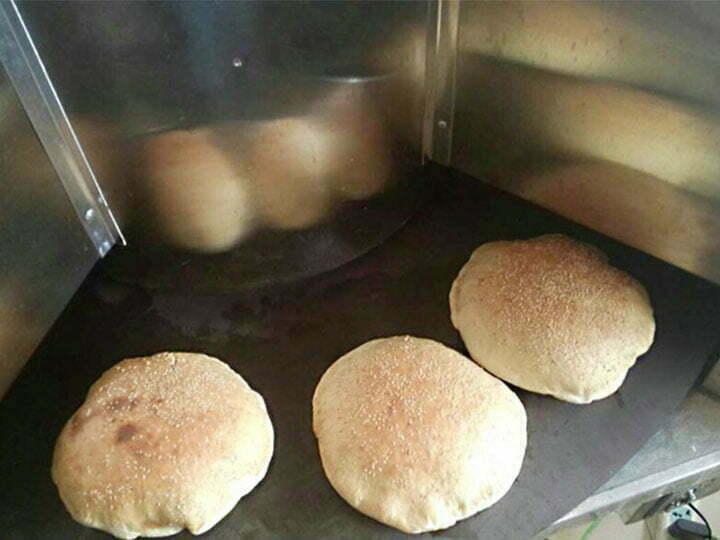working effect of the pita bread maker machine