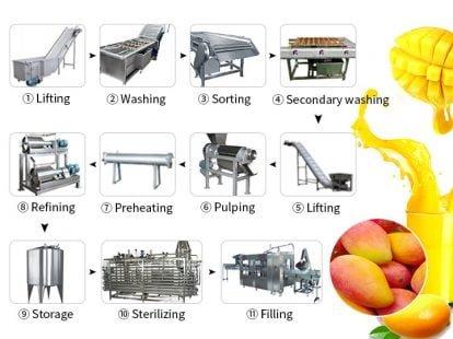 mango juice pulp production line