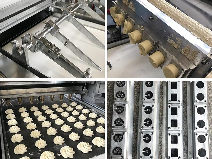 cookie dropping machine structure