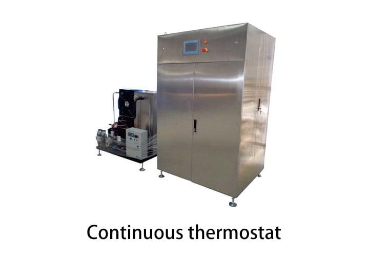 Chocolate continuous tempering machine