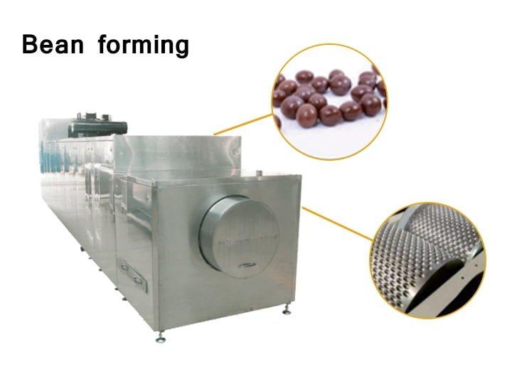 The chocolate bean forming machine