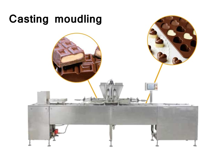 The chocolate casting moulding machine