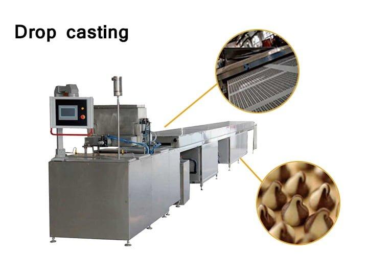 The chocolate drop-casting machine