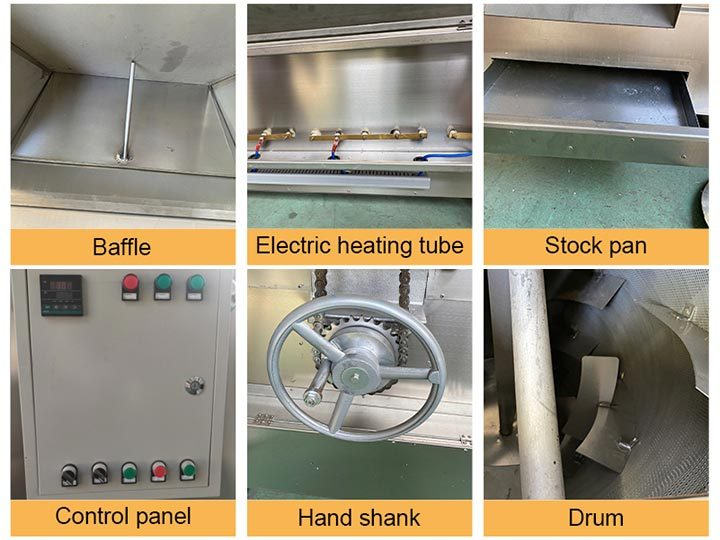 Structure of the peanut roasting machine